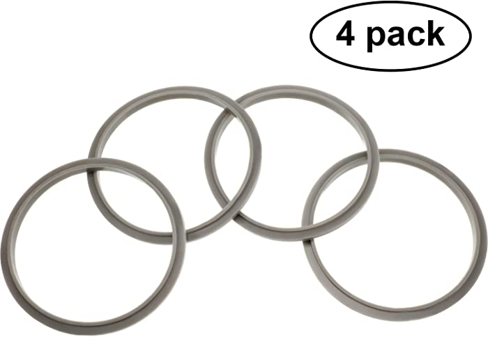 4 Pieces Gaskets with Lip for Nutribullet Blender Gasket Replacement Parts for 600W 900W Extractor or for Flat Milling Blades NB-101