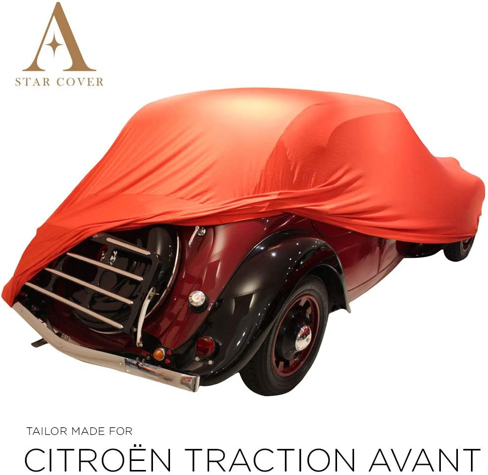 Star Cover Housse INT/ÉRIEUR Compatible avec Renault 4CV B/ÂCHE Auto Garage Oldtimer LIVR/É Rapide Housse Cabriolet Voiture DE Sport Rouge Housse
