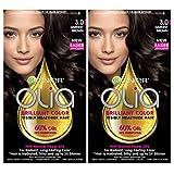 Garnier Olia Ammonia-Free Brilliant Color Oil-Rich Permanent Hair Color, 3.0 Darkest Brown (2 Count) Brown Hair Dye