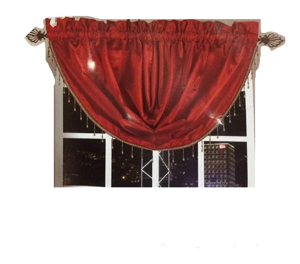 OctoRose Royalty Custom Waterfall Window Valance Swags & Tails for your window width less than 45