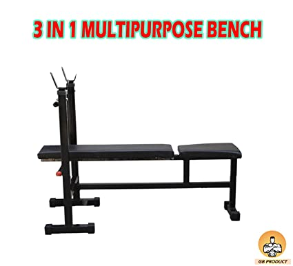 Buy Gb 3 In 1 Bench Press Incline Decline Flat Bench Online At