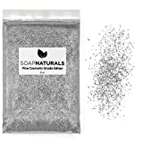 SoapNaturals Cosmetic Grade Glitter for Bath Bombs - Safe for Skin FDA Approved, Bulk 1/2 Pound 8 Ounce | Medium Fine, Iridescent Shimmer | Wholesale Soap Making Supplies for Cosmetics (Silver)