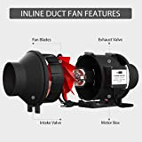 VIVOHOME Black Round Inline Exhaust Duct Fan with