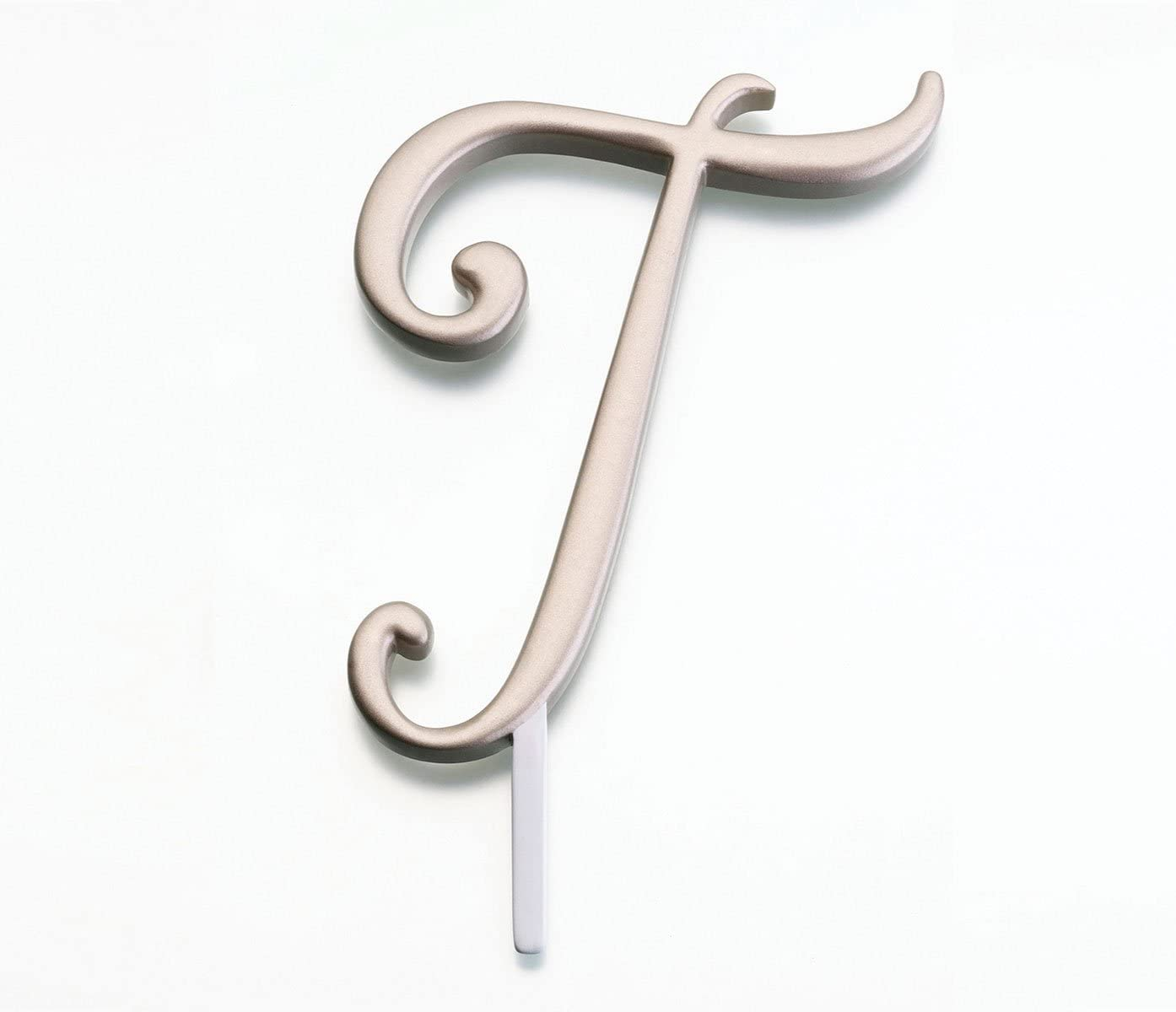 Lillian Rose Monogram Cake Topper Letter T Gold