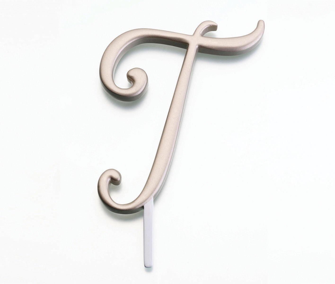 Lillian Rose Monogram Cake Topper Letter T Gold