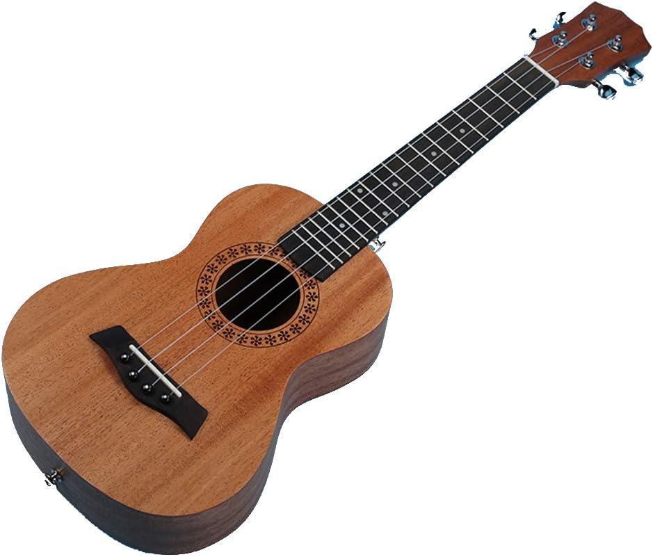 WJX Ukulele de 23 Pulgadas, Ukelele de Caoba para Guitarra pequeña para Principiantes, Adultos, 4 Cuerdas