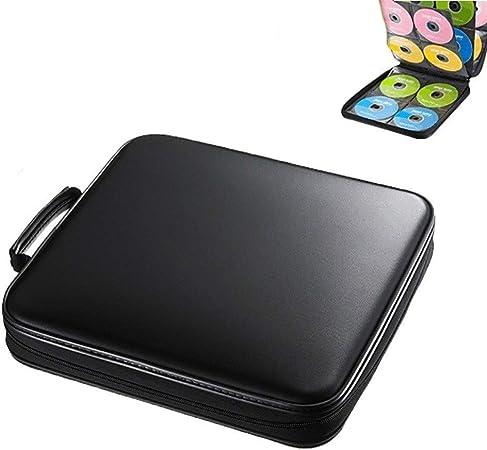 GWXJZ Estanterías para CD DVD Bolsa de Almacenamiento de 160 Discos CD portátiles, Estuche Organizador de