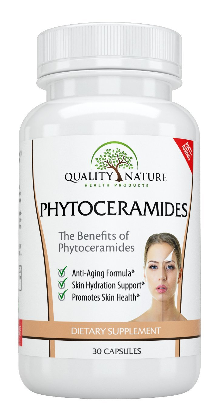 Phytoceramides Plant Derived - With Vitamins A, C, D , E , Advanced Anti-aging - Skin Care Supplement - Gluten Free Offered By Quality Nature.