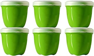 product image for Preserve Mini Round 8 Ounce Apple Green Storage Container, Set of 6