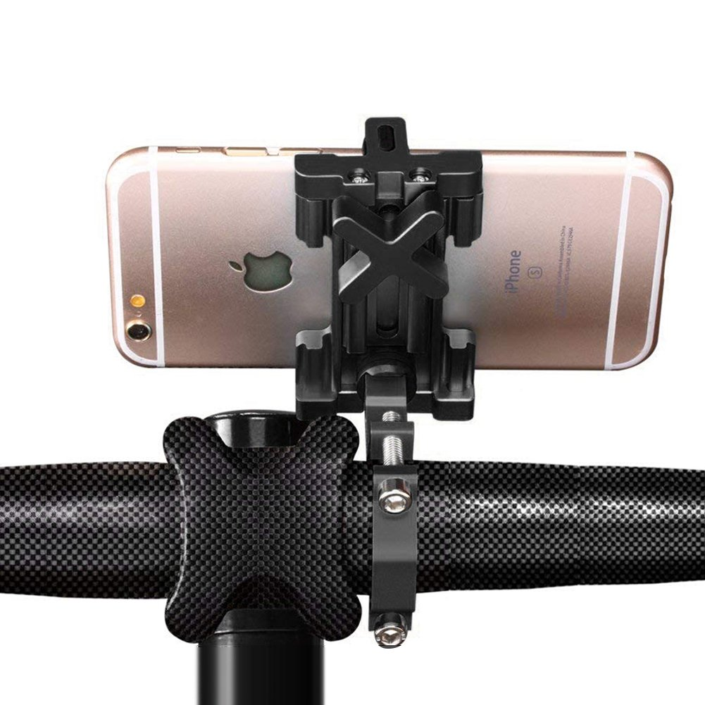 ACVCY Premium Cell Phone Bike Mount - Bike Handlebars, Adjustable, Fits iPhone X, 8 | 8 Plus, 7 | 7 Plus, iPhone 6s | 6s Plus, Samsung Galaxy S7, S6, S5, Smart Mobile Phones Up To 3.9'' Wide