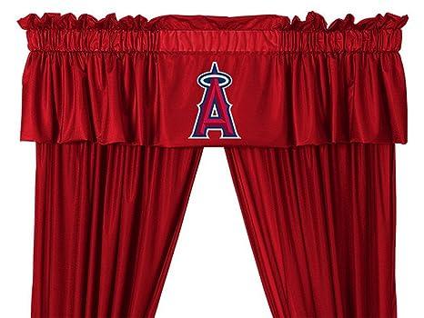 MLB Los Angeles ángeles Valance equipo de béisbol Anaheim Logo ventana  tratamiento bf605ed3807