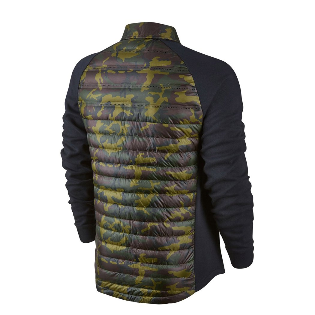 d375a080ab36 Amazon.com  Nike Mens Tech Fleece Aeroloft Jacket Shirt Down Camo Black ( Large)  Sports   Outdoors