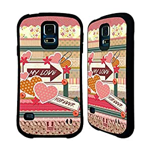 Head Case Designs Love Quilt Crafts in Love Hybrid Gel Back Case for Samsung Galaxy S5