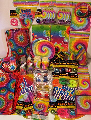 Tie Dye Party Supply Pack for 16