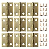 eBoot 50 pieces mini cabinet drawer butt hinges connectors with 200 pieces 5 mm mini brass hinge replacement screws Mini hinge connectors and replacement screws: 50 Pieces cabinet hinges connectors, each opened size (LW) is approx. 18 x 15 mm...