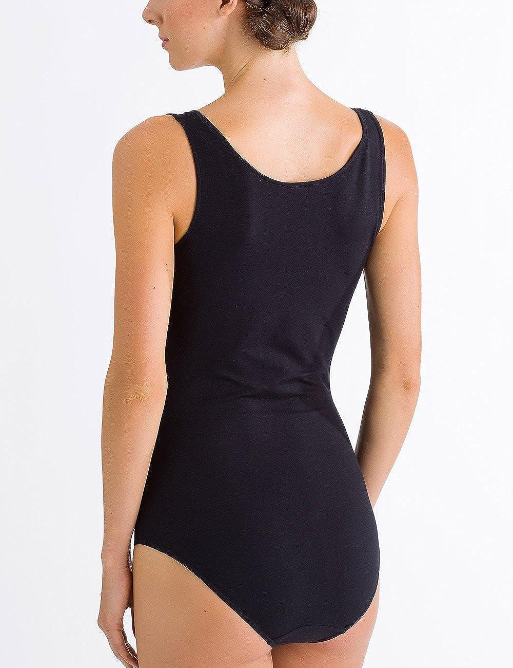 HANRO Womens Cotton Sensation Tank Bodysuit