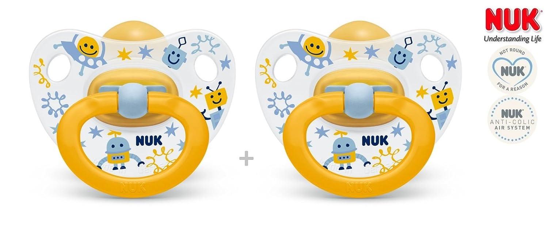 NUK Happy Kids nº 10.725.214 - 2 x anatómica Chupete látex ...