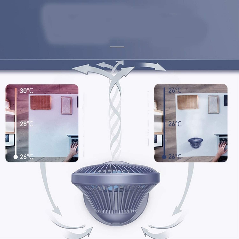 Color : Blue Air Cooler 4 Gear Wind Speed USB Table Fan Portable Desktop Mini Fan Office Home Outdoor Personal Fan