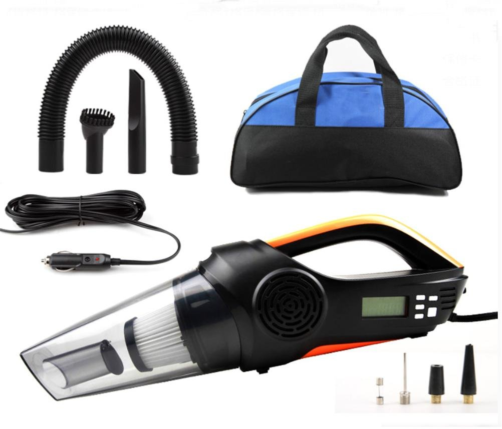 LEAJIA Car Vacuum Cleaner, 4-in-1 Multi-Function Digital Inflatable Pump Tire Pressure with LED Lights