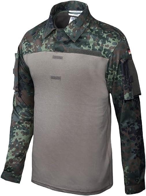 Leo Köhler Combat Camiseta, Camuflaje de 5 Colores de Camuflaje, Talla 50/52