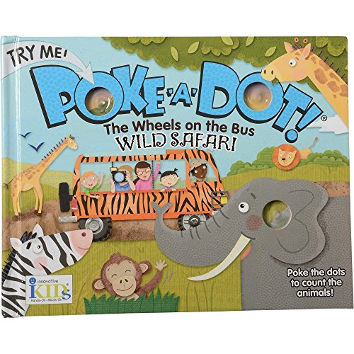 Constructive Playthings INN-01 The Wheels on The Bus Poke-A-Dot Counting Board Book, Grade: Kindergarten to 3