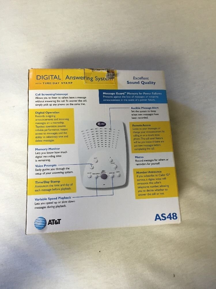 Amazon.com : AT&T Digital Answering System with Time/Day Stamp : Electronics