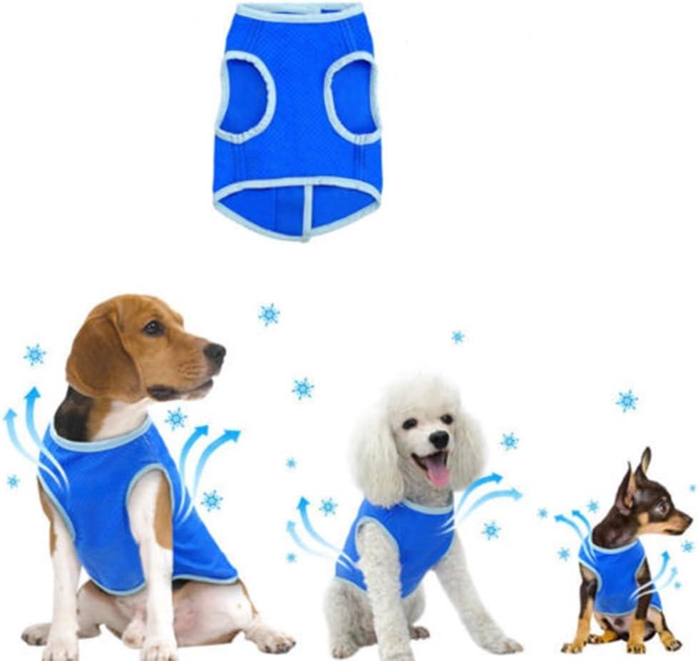 TXIN Blau Haustier K/ühlweste Dacron Abk/ühlen Wasserdicht Mantel Geeignet f/ür Alle Hunde