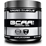 KM Fermented BCAA Powder, Plant Based, Non-GMO, Gluten Free, 2:1:1 Powder  Vegan Friendly Branched Chain Amino Acids (Unflavored, 36 Servings)