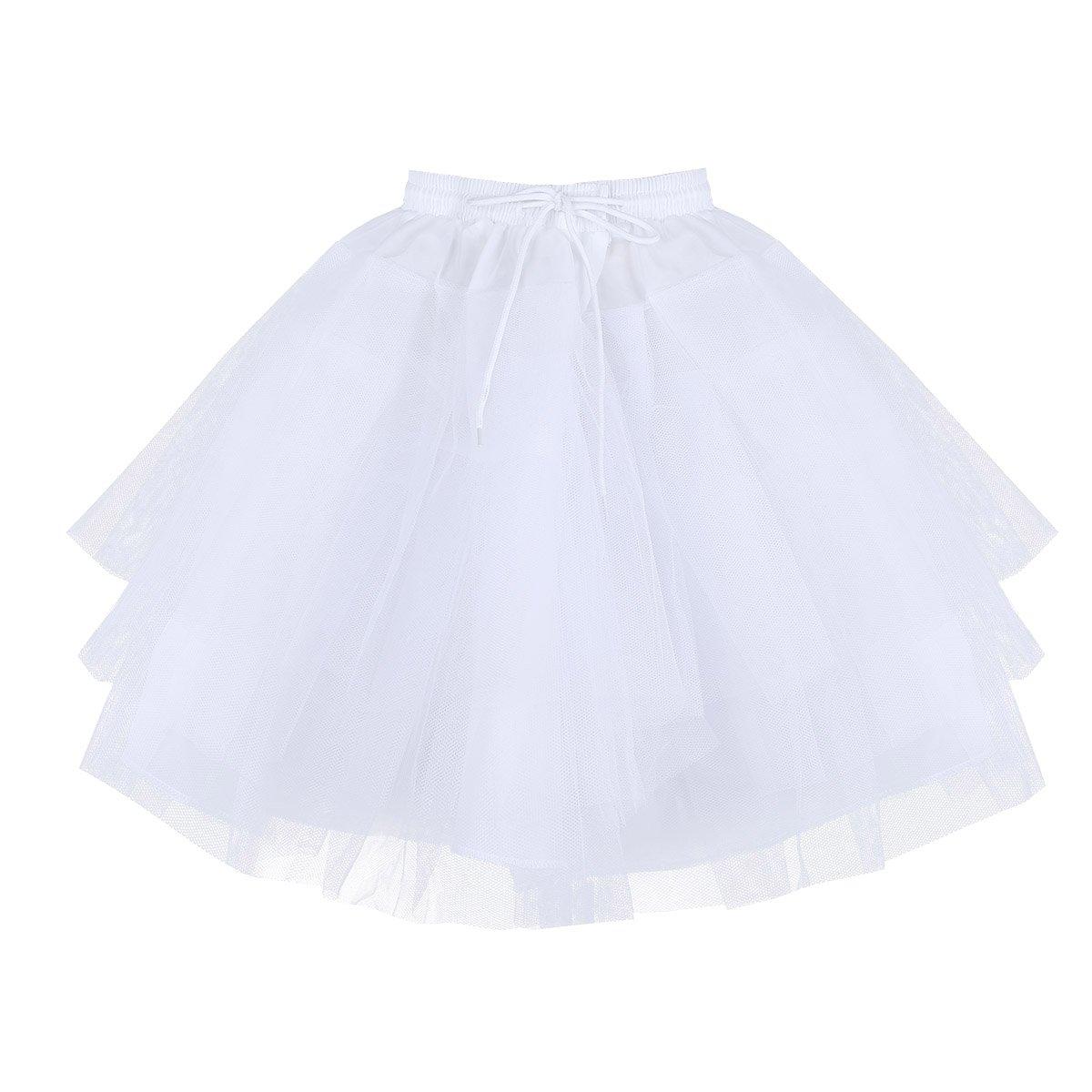 CHICTRY Kids Wedding Ball Gown Lace Edge 3 Layers Net Flower Girl's Crinoline Petticoat Skirt Slips