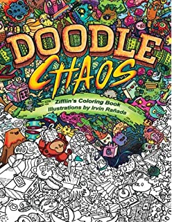Doodle Chaos Zifflins Coloring Book Volume