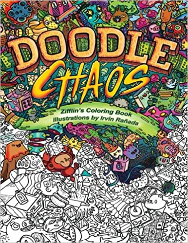 Amazon Com Doodle Chaos Zifflin S Coloring Book Volume 3