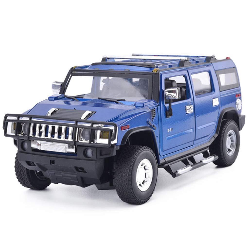 JIANPING Hummer Modello di Auto H2 Fuoristrada Veicolo in Lega 1 18 Simulazione statica Giocattolo Modello Collezione Ornamenti Modello di Auto (colore   Blu)