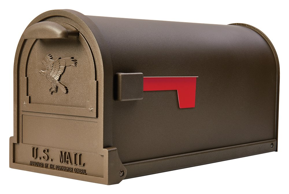 Gibraltar Mailboxes Arlington Large Capacity Galvanized Steel Bronze, Post-Mount Mailbox, AR15T000
