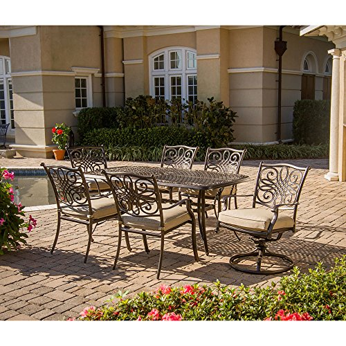 Hanover TRADITIONS7PCSW Traditions 7-Piece Deep-Cushioned Outdoor Dining (Hanover Patio)