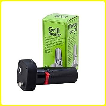 Grill Motor Portátil para Barbacoa Barbacoa Roast Rotisserie (Carbón griego chipriota Foukou) - Batería