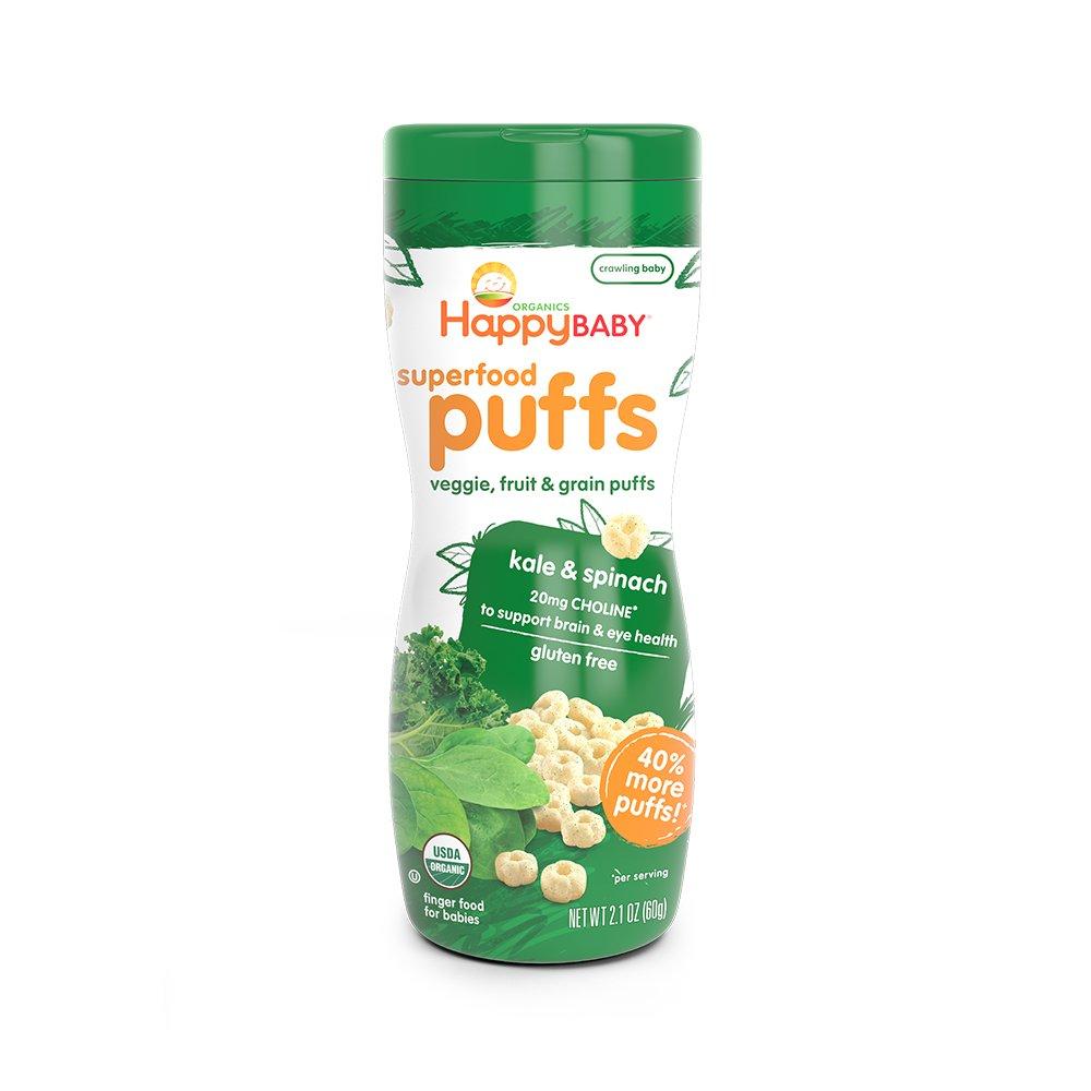 Happy Family Puffs - Green - 2.1 oz HappyBaby 120