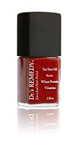Dr.'s Remedy Enriched Nail Polish, RESCUE RED, 0.5 Fluid Ounce
