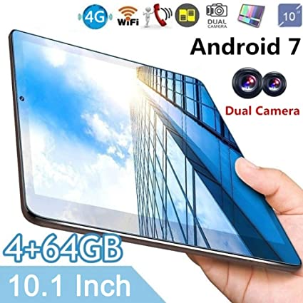 10-Inch Tablet with Sim Card Slots - 4GB RAM 64GB ROM IPS High-Definition  Screen Eight-Core Tablet for Android 7 0 System