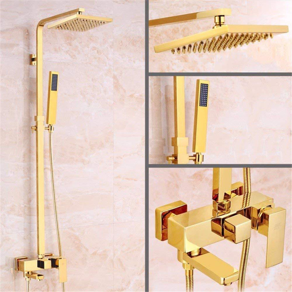 B The rain Shower taps Retro, Articles of Copper, golden Square Bath Rooms, hot Cold and rain of The Head, Bath Rooms Set, B