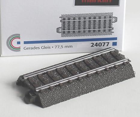 MÄRKLIN 24077 C-Gleis gerade 77,5 mm #NEU#1 1 Stück#