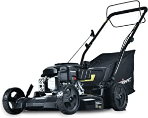 PowerSmart Lawn Mower, 21-inch & 170CC, Gas Powered Self-Propelled Lawn Mower with 4-Stroke Engine, 3-in-1 Gas Mower in Color Black, 5 Adjustable Heights (1.18''-3.0'' ), DB8621SR-A