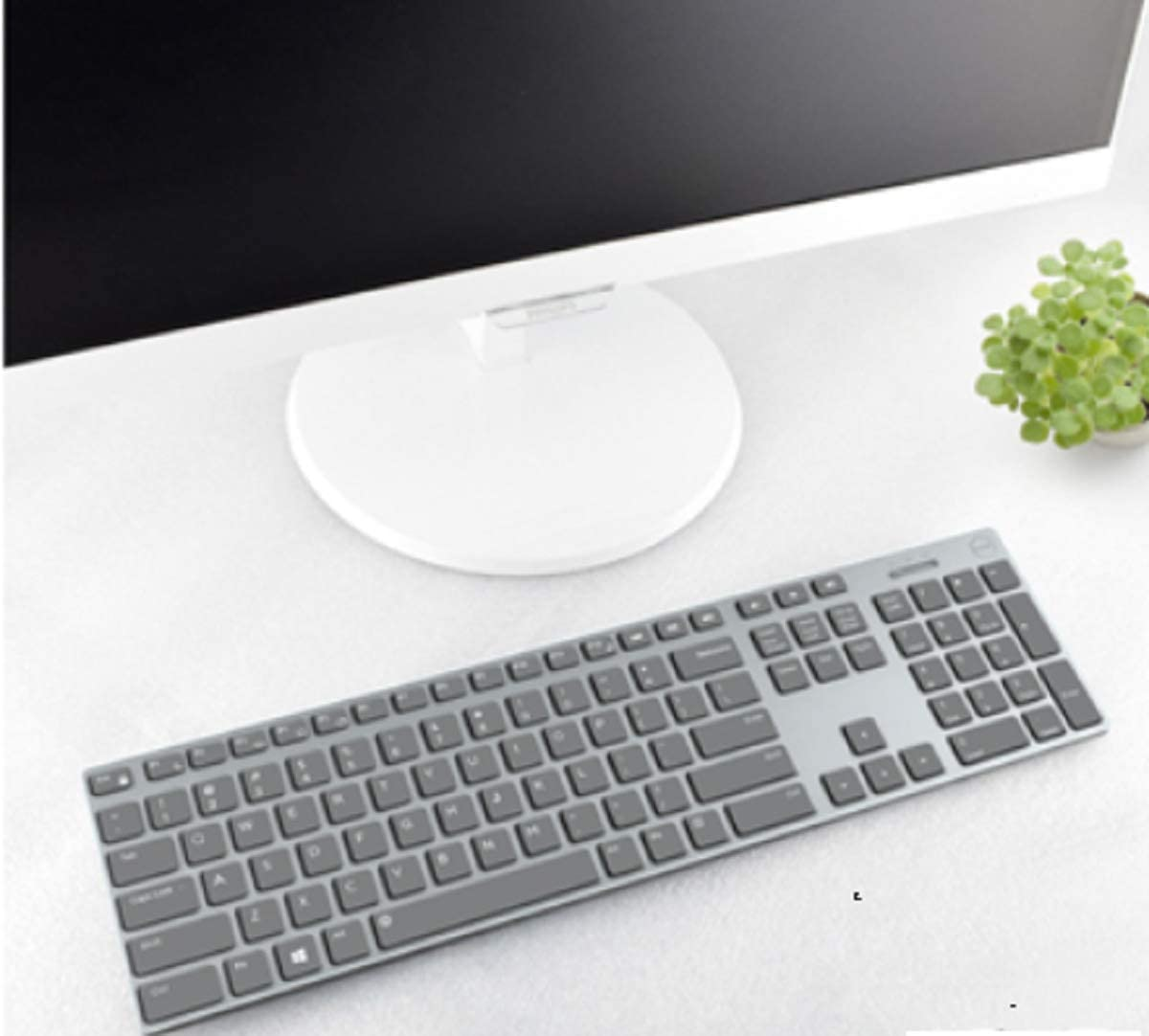 Lapogy Keyboard Silicone Cover Compatible with Dell KM717 Premier Wireless Keyboard,Ultra Thin Keyboard Proector Skin,Clear