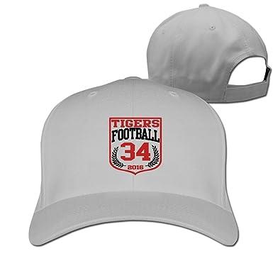 Katy tigres fútbol gorra de béisbol 34 blanco, Ceniza: Amazon.es ...