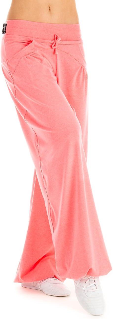 Winshape WTE3 Pantalon de survêtement pour Danse, Fitness, Loisirs, Sports pour Femme neon coral