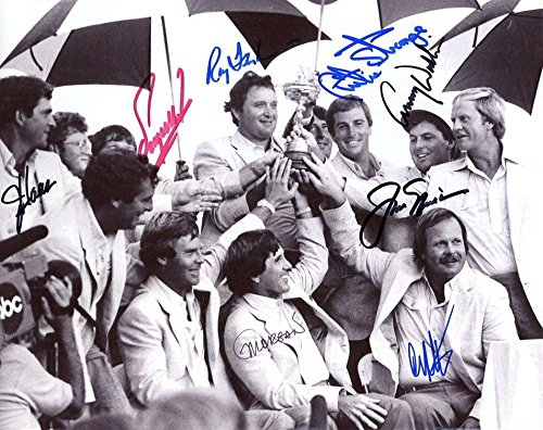 Jack Nicklaus Autographed Picture - 1983 RYDER CUP 8x10 +COA 8 + LETTER - JSA Certified - Autographed Golf ()