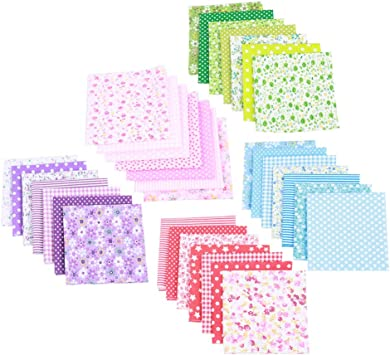 Toyvian 5 Paquetes Tela de Algodon DIY Bundle Squares Craft ...