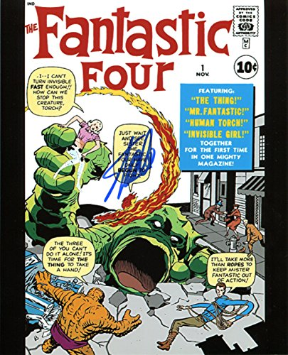Stan Lee Fantastic Four #1 Signed / Autographed 8x10 Glossy Photo. Includes Fanexpo Certificate of Authenticity and Proof of signing. Entertainment Autograph Original. Thing, Invisible woman, Human Torch, Mr Fantastic