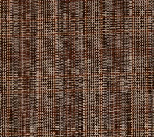 (Oxford Cotton Stretch Twill Plaid Suiting Fabric By the Yard)