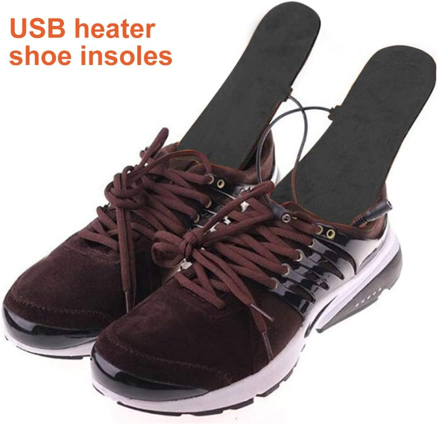Thermal Soles Heat Sole Shoe Heating Washable Heated Thermosole SEGMINISMART Foot Warmer Sole Warmer Heated Insoles Size: 35-44 Can Be Cut to Size