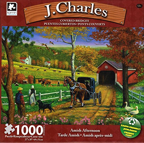J. Charles - Covered Bridge Collection - Amish Afternoon - 1000 Piece Puzzle